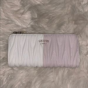 White & Lilac Guess Wallet